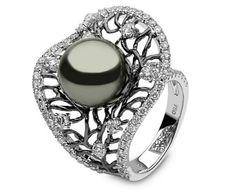 Diamond Tahitian  Ring
