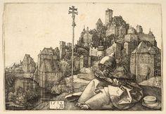 Dürer - Saint Anthony Reading 1519. Engraving. The Metropolitan Museum of Art, New York. 19.73.66.