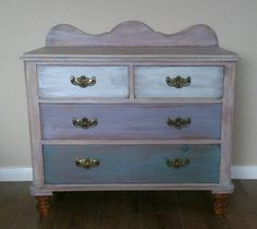 Hi Cheryl it's old white on the top, pure white small drawers, provance and Emile :) 2 coats on drawers of watered down paint (3 parts of water to 1 paint) 1 coat on frame, than sanding