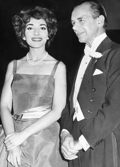 Maria Callas and conductor Malcolm Sargeant