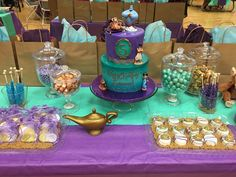 Aladdin Princess Jasmine Dessert Table