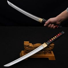 Hand Forged Tanto Knife 1060 High Carbon Steel Blade Full Tang Battle Ready Japanese Samurai Short S Japanese Blades, Japanese Sword, Japanese Art, Leather Knife Sheath Pattern, Pocket Knife Brands, Armas Ninja, Samurai Swords, Katana Swords, Forged Steel