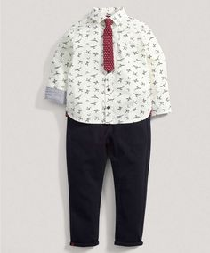 Boys Shirt, Tie and Chino Set - New In - Mamas & Papas