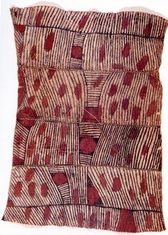 Tejido de corteza mbuti, siglo XX.