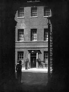 10 Downing Street, SW1 by Leonard Bentley, via Flickr, taken in the 50s from the Foreign Office access road