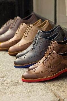 Ben Sherman Wingtip Oxfords in Different Colors