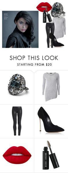 """""""Adrianne Ho"""" by de-garbelini ❤ liked on Polyvore featuring Stephen Dweck, Dorothy Perkins, The Row, Casadei, Lime Crime and Bobbi Brown Cosmetics"""