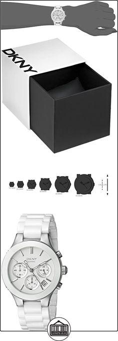 DKNY  NY4912 - Reloj de cuarzo con correa de acero inoxidable para mujer, color blanco  ✿ Relojes para mujer - (Gama media/alta) ✿