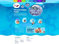Design nového webu pro plavecký stadion Podolí.