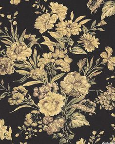 Japanese Import - Sand Rose - Antique Bouquet - Black