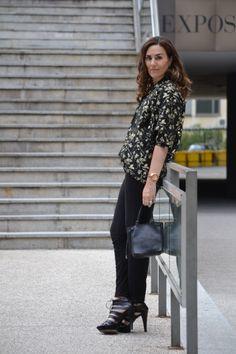 Kimono dorado y negro: el look que elegí para asistir a las IV Jornadas blogs de Moda en Madrid. www.modaenprovincias.blogspot.com