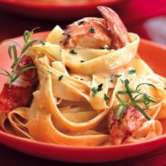 Lobster Pasta with Herbed Cream Sauce