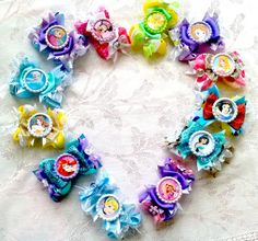 My Disney Hair Set 12 hair bows Mix and match by SweetandCuteBows, $85.00