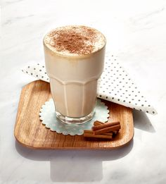Want a healthier alternative to hot chocolate? Try this Vanilla Wellness Drink, with a touch of cinnamon, instead.