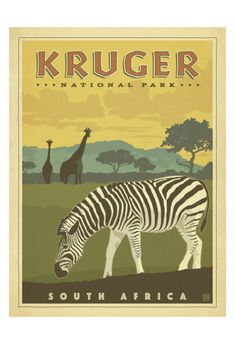 Kruger National Park, South Africa Posters by Anderson Design Group at AllPosters.com