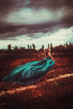 d146469377cc6 Incredible. Love the use of field and the color of the dress. Fantasy  Photography