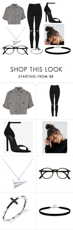 """Untitled #266"" by margarida14 ❤ liked on Polyvore featuring Topshop, Yves Saint Laurent, ASOS, Alice Barnes and Thomas Sabo"