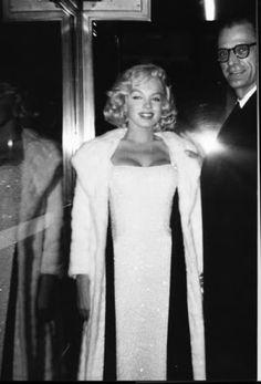mm and her third husband, arthur miller.