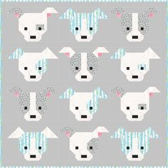 Let's Bee Social - Dog Gone Cute Quilt Along - starting on September 1, 2015!  The pattern is also available!