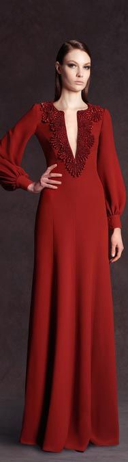 Celebrities who wear, use, or own Andrew Gn Pre-Fall 2013 V-Neck Long Sleeve Gown. Also discover the movies, TV shows, and events associated with Andrew Gn Pre-Fall 2013 V-Neck Long Sleeve Gown. Modest Fashion, Hijab Fashion, Fashion Dresses, Look Fashion, Fashion Show, Runway Fashion, Long Sleeve Gown, Evening Dresses, Formal Dresses