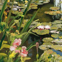 Garden 6 - Jan de Vlieger Belgian b.1964- Oil on canvas, 39 2/5 × 39 2/5 in. 100…