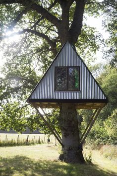 House in the Woods Surrey - Tierney Haines Architects House In The Woods, Surrey, Architects, Gazebo, Outdoor Structures, Cabin, House Styles, Building, Home Decor