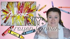Click here for an easy tutorial on how to make an amazing canvas out of crayons! Fun and easy DIY!
