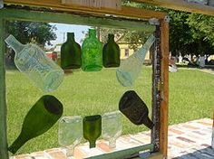 Flatten Glass Bottles - Step by step  plus a video! I think I may try this! :)