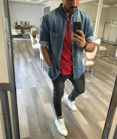 S apparel erkek günlük giyim fashion, tren Trendy Mens Fashion, Dope Fashion, Stylish Men, Urban Fashion, Men Casual, Men Looks, Mens Clothing Styles, Trendy Outfits, Menswear