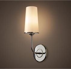 Modern Taper Sconce with Glass Shade