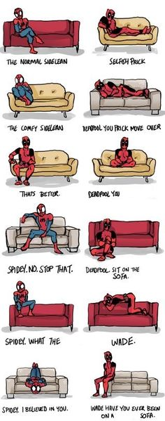 deadpool just sit on the fUcKInG sOFa