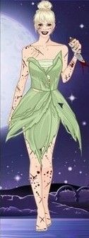 Tinkerbell [as a zombie] (As Monsters by LadyAquanine73551 @deviantART) #PeterPan