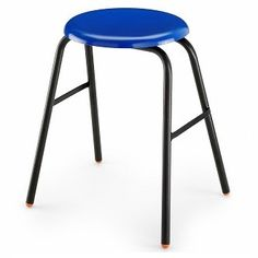 Polypropylene Button Top Stool - Stacking school laboratory high stools, technology classroom lab, college art studio or university science research, medical nhs, hospital lab. Classroom Stools, Classroom Design, Tall Table, High Stool, School Furniture, Science And Technology, Bar Stools, Chairs, Button