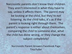 The narcissistic father. Or... Tiptoe, because they will rage at you for disturbing them, having a little difference of opinion... Any old thing.