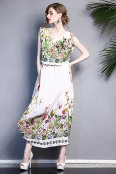 Floral White Beach Dress Summer Dress by Enice from Enice Fashion by DaWanda.com