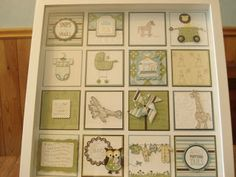 April's Stampin' Pad: Caitlin`s baby shower Collage Frames, Box Frames, Scrapbooking Layouts, Scrapbook Paper, Shadow Box Memory, Engagement Cards, Candy Cards, Scrapbook Embellishments, Card Sketches