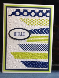 Washi Tape then embossed...easy!
