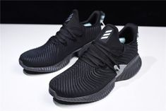 49ac49b2e93b09 adidas AlphaBounce Instinct Black Grey Mens Womens Running Shoes-1
