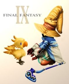 Final Fantasy IX Vivi and baby chocobo - Chocobo tattoo only though. Final Fantasy Tattoo, Final Fantasy 3, Fantasy Series, Video Game Art, Video Games, Kingdom Hearts Games, Black Mage, Pop Culture Art, Learn Art