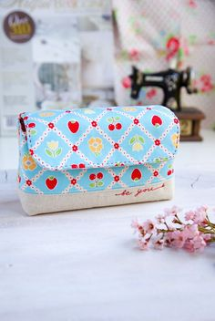 cute pouch with embroidered details