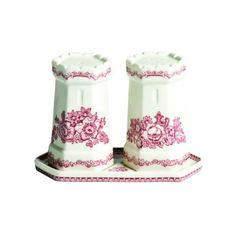 Amazon.com: Johnson Brothers Old Britain Castles 3-Inch Castle Salt and Pepper, Pink: Home & Kitchen