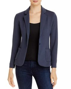 Majestic Filatures - French Terry One Button Blazer Young Professional, Blazer Buttons, Blazers For Women, Size Model, French Terry, Female, Long Sleeve, Womens Fashion