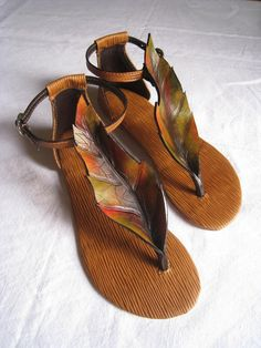 Sandals - Leather work 95 by ~HamraBDG on deviantART