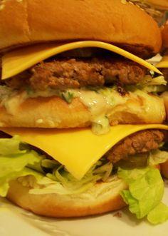 Copycat McDonald's Big Mac recipe with homemade special sauce. #hamburger #cheeseburger #burger #recipe