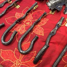 I've got some of my hooks for sale at the Holiday Market at Oliver Art Center in Frankfort MI. #forging #secondjob #secondjob #hook #oliverartcenter #holidaymarket #frankfort #michigan #etsymetalteam #kskiles #skiles #ross #blacksmith
