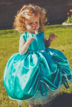 Princess Dress, using Look #10 from 5 & 10 Designs, sewn by Sew a Straight Line.  Fabric is from Jo-Ann stores