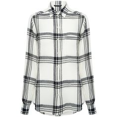 Marissa Webb - Wesley Plaid Blouse ($275) ❤ liked on Polyvore featuring tops, blouses, button down blouse, white blouses, relaxed fit tops, plaid blouse and white tops
