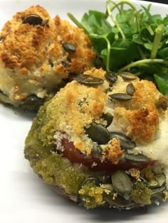 These Stuffed Portobello Mushrooms are so tasty and perfect for lunch or dinner especially as they are vegetarian, so easy & super tasty!