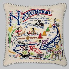 Catstudio Nantucket Pillow  Geography Collection Home Dcor 078CS >>> You can find out more details at the link of the image.-It is an affiliate link to Amazon. #DecorativePillowsInsertsCovers