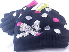 1a5ec0cba09 Jumping Beans Glitzy Hat and Gloves Set Small Girls 4-6 Jumping Beans http